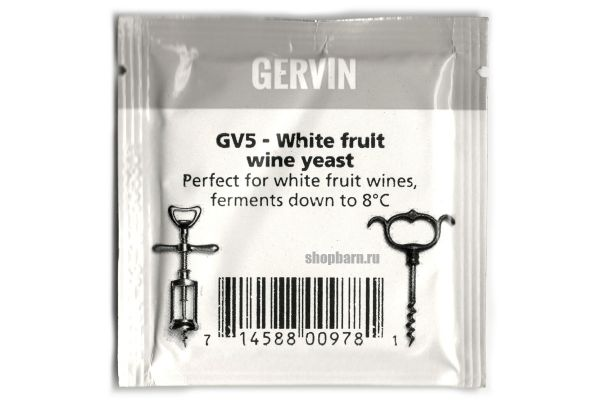 Винные дрожжи Gervin GV5 White Fruit Wine